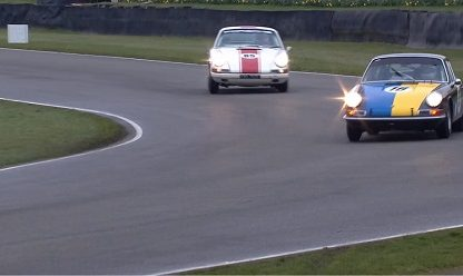 This Fierce Sideways Battle Between Two Porsches Is Five Minutes of Incredible Racing