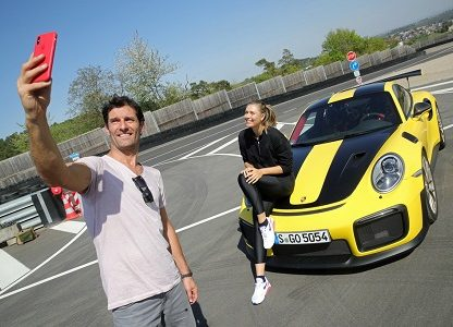 Sharapova And Webber Play Doubles With A Porsche 911 GT2 RS