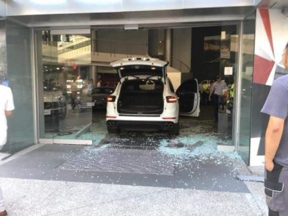 Man Crashes Cayenne Into Porsche Dealership Because They Messed Up His Panamera Order