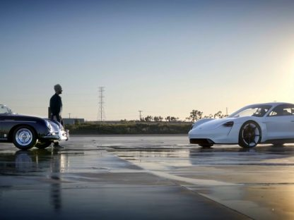 Adam Levine Takes Porsche's Mission E Out For A Lap
