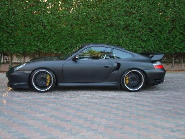 Flat Black Porsche 911 GT2 996 Murdered Out