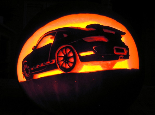 Porsche Pumpkin Carving Template
