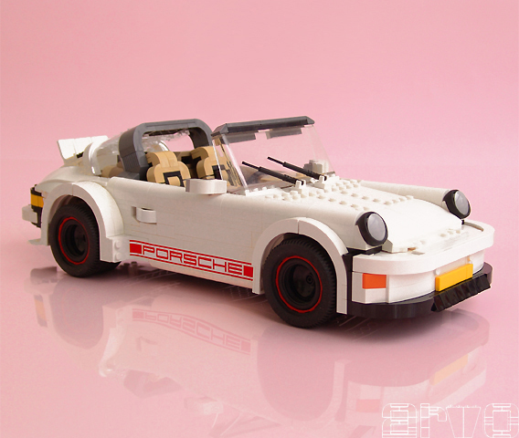 A Porsche 911 built out of legos