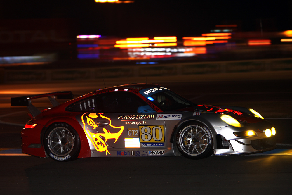 Porsche 911 GT3 RSR Flying Lizard in the 24 Hours of Le Mans