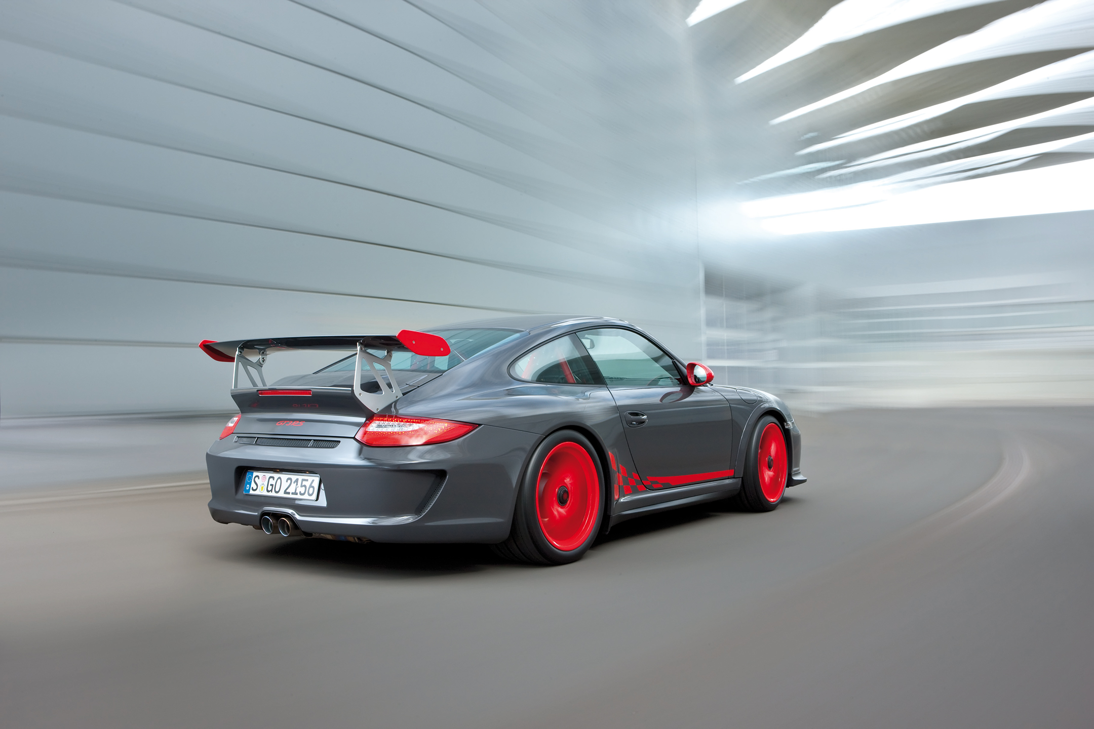 2010 Porsche GT3 RS in motion