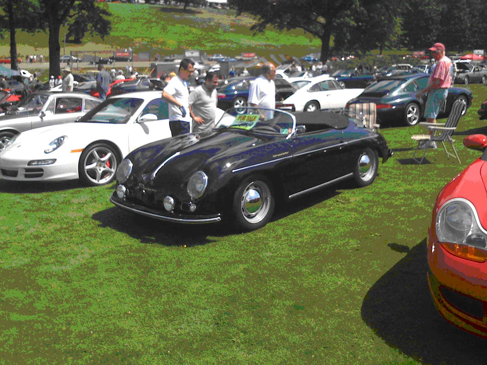 Porsche 356 in the field at the Pittsburgh Vintage Grand Prix