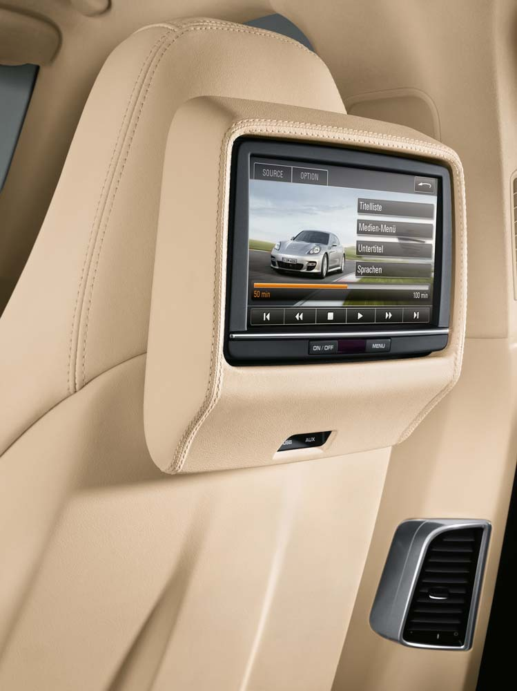 Movie Screen in a Porsche Panamera