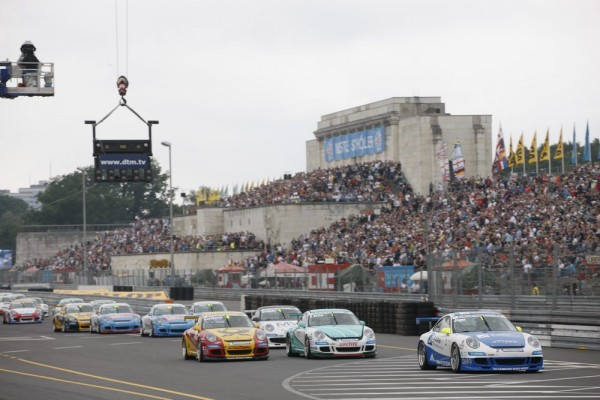 Porsche GT3 Cup Cars in the Grid in Deutschland