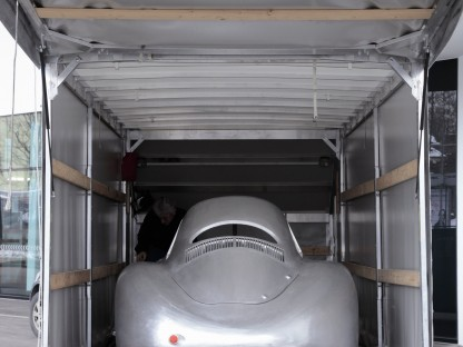 Porsche Type 64 on the trailer heading for the airport