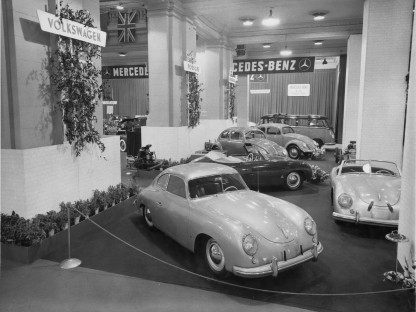 Porsche at the International Motor Sports Show in 1953