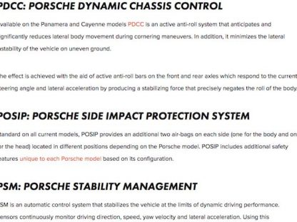 14 Porsche Acronyms Explained