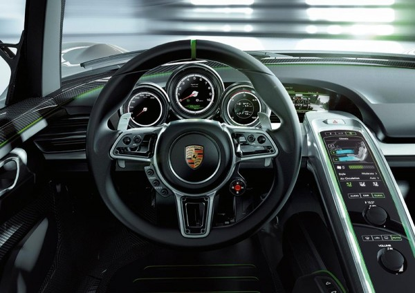 porsche 918 spyder interior console and guages