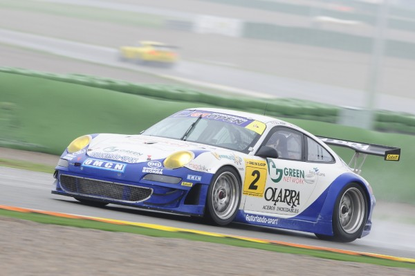 Porsche 911 racing at the International GT Open