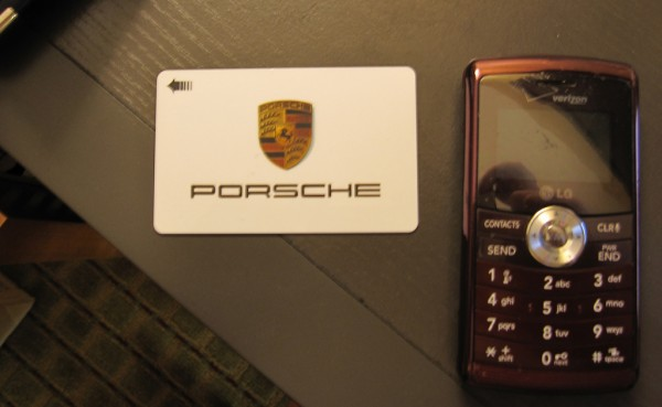 a room key from the 2010 PCA Porsche Parade