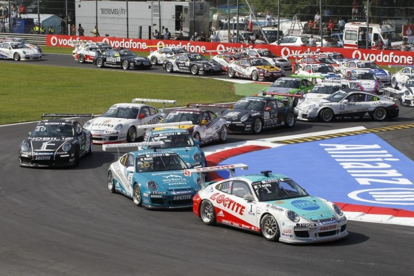 Porsche GT3 Cups racing at Monza