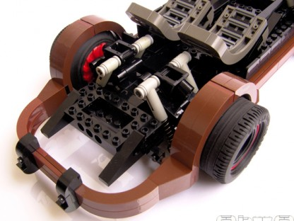 working suspsension in a Porsche built from Legos