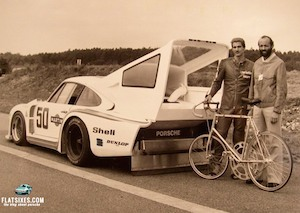 Porsche Factoid:  A Heavily Modified Porsche 935 Was Used in an Attempt to set the World Record for the Highest Speed Achieved on a Bicycle
