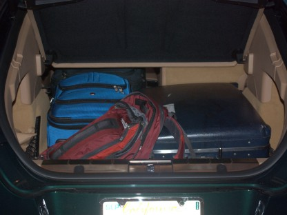 luggage space in a 2010 Porsche Panamera