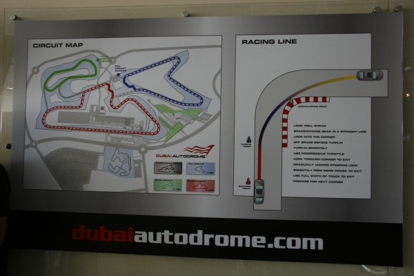the line at the dubai autodrome