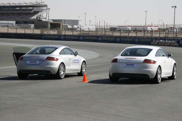 two audi tts with michelin pilot super sports