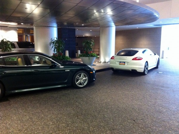 porsche panameras at Four Seasons valet san fran
