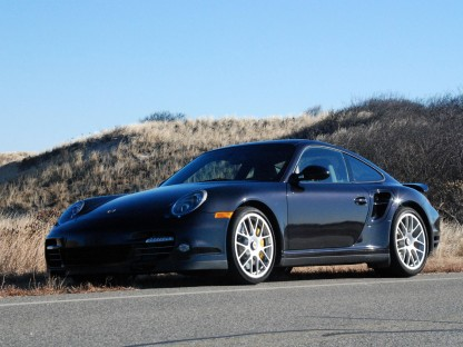 2011 Porsche 911 Turbo S looking aggressive