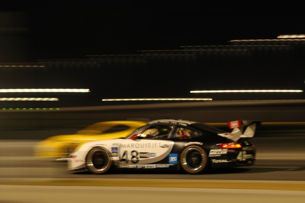 #48 Miller Racing Porsche nightime at Daytona