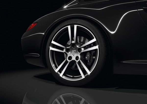 Porsche Carrera Black Wheels