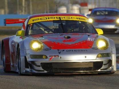 Porsche Factory Team #45 Testing at Sebring