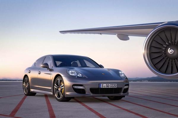 Porsche Panamera Turbo S on a runway