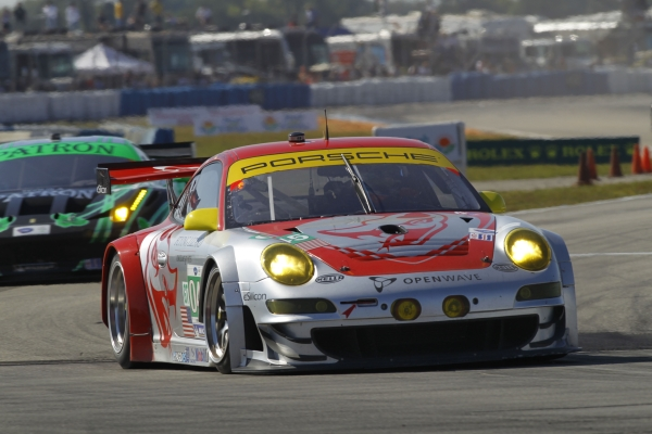 Flying Lizard Porsche GT3 RSR at Sebring