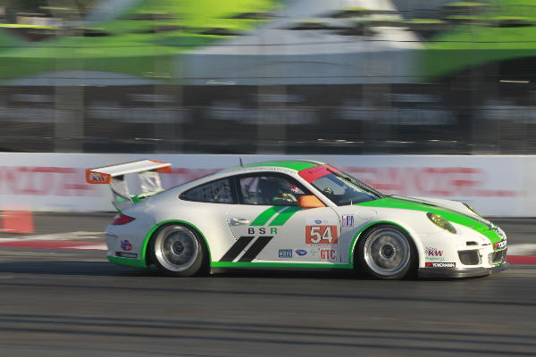 Jeroen-Bleekemolen Driving the Black Swan Racing Porsche in the ALMS