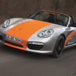 All Electric Porsche Boxster Driving