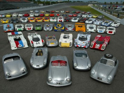 historic racing porsches at rennsport