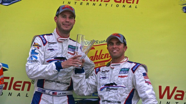 Leh Keen and Andrew Davis on the Podium at Watkins Glen