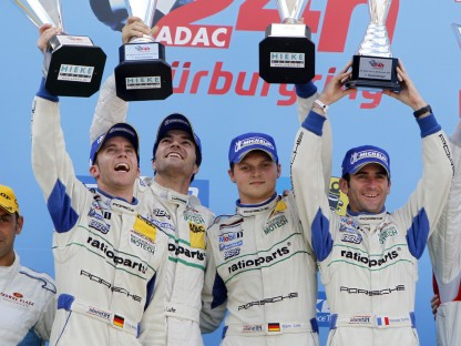 Porsche's Team Manthey on Podium at the Nurburgring