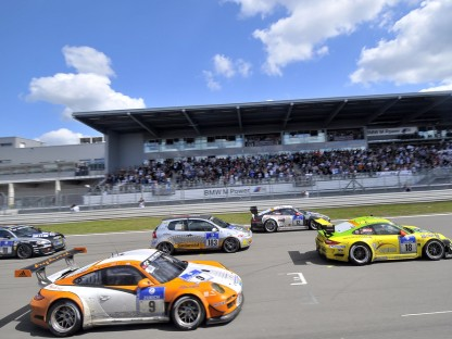 Porsche in the 4th Row of Grid at the Nürburgring 24 hour race
