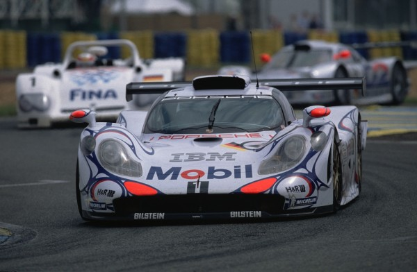 Porsche's 911 GT1 racing at Le Mans in 1998