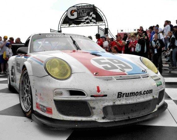 #59 Brumos Porsche 911 in Victory Lane at Watkins Glenn
