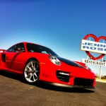 Jeff zwart porsche 911 GT2 RS parked on road trip