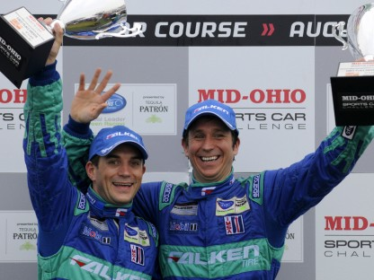 Wolf Henzler and Bryan Sellers on Podium in the ALMS at Mid Ohio 2011