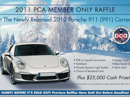 PCA Christmas Raffle for 2012 Porsche 991
