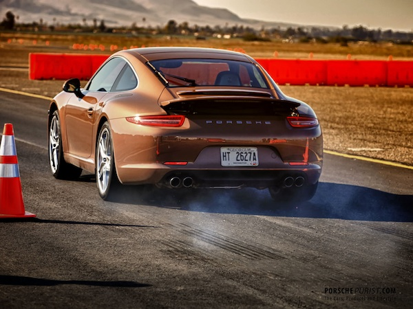 Using launch control on the 2012 Porsche 911