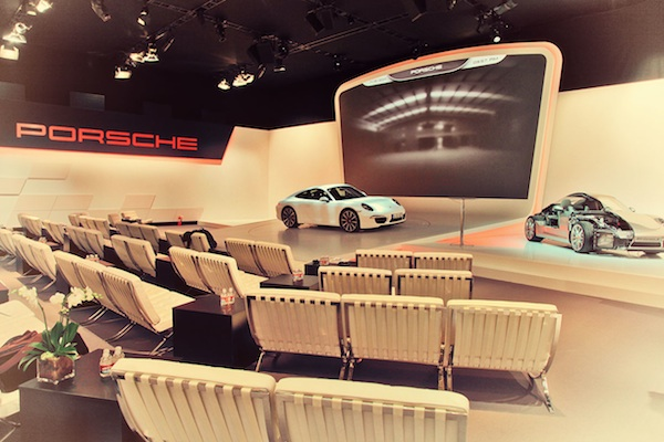 Porsche Media hanger for 991 launch