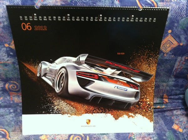 2012 Porsche Calendar month of June