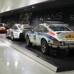 Porsche 911 Carrera RS 2.7 Safar on display at Porsche Museum