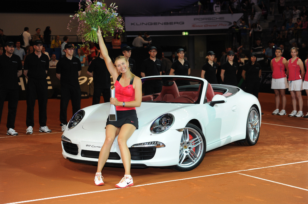 Maria Sharapova Porsche Tournament win