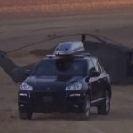 testing the IAC armored Porsche Cayenne