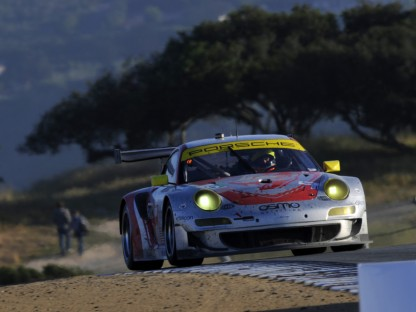 Porsche's Results and Pictures in the ALMS at Mazda Raceway Laguna Seca