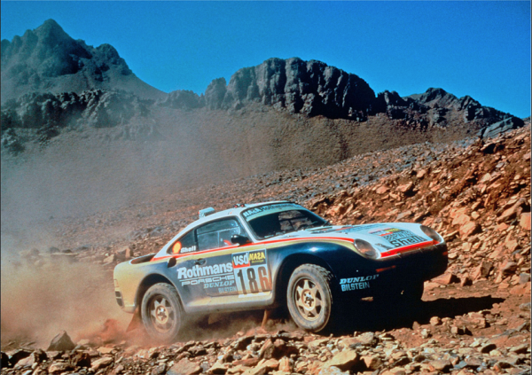 1984 Porsche 911 that won the Paris-Dakar Rally